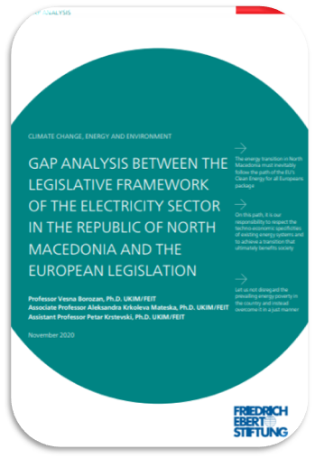 Gap Analysis of the Legislative Framework of the Electricity Sector in North Macedonia
